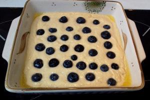 áfonyás amerikai palacsinta sütés előtt