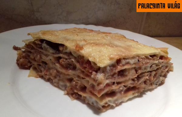 bolognai lasagne palacsintatésztából