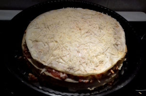 lasagne palacsintatésztából sütés előtt